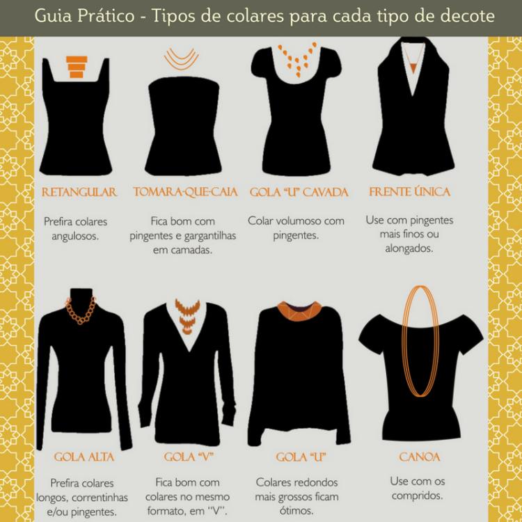 Guia Prático - Tipos de Colares para cada tipo de decote
